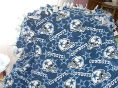 0692105c73 Items similar to Dallas Cowboys Tie Blanket - NFL Football Fleece No Sew -  DESIGN your Own - Great Gift - Bedding