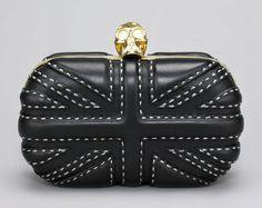 Alexander McQueen Pickstitched Britannia Box Clutch