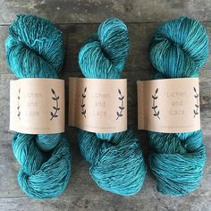 Teal Tide in 1ply Fingering // 3 skeins = 1200 yards = enough for some sweater projects