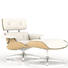 Eames Lounge and Ottoman, White Ash - Lounge Chairs - Seating - Herman Miller Official Store #inspiredbyelie