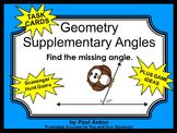 Geometry Supplementary Angles Measurement Math Task Cards
