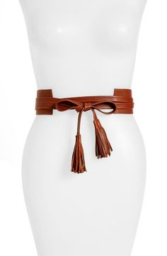 Free shipping and returns on Raina Bronco Leather Wrap Belt at Nordstrom.com. A sleek leather wrap-style belt ensures a perfect fit every time, while ties tipped with tassels add trend-right appeal to the look.