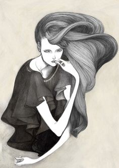 DONT'T THINK ABOUT IT TOO MUCH - illustration by Laura Laine