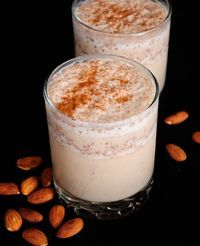 Cinnamon Almond Milk. Cinnamon is a known fighter against high blood pressure, high cholesterol, cancers and diabetes. Paired with calcium-rich milk and protein-rich almonds, this is a super drink for breakfast or afternoon energy booster. #drinks #smoothies