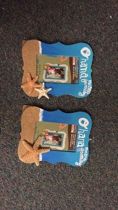 Ohana means family sorority picture frame alpha gamma delta Agd beach theme starfish sand blue water love crafts gifts