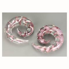 Purple Ribbon Glass Spirals