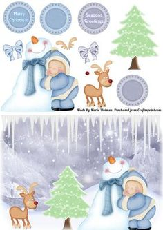 It's Cold outside - New Christmas Cards  at Craftsuprint http://www.craftsuprint.com/card-making/step-by-steps/christmas-snowmen/its-cold-outside.cfm