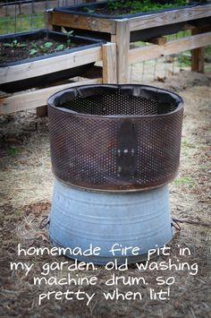 idea, garden project, garden newslett, homemade outdoor fire pit, winter garden, urban garden, gardens, repurpos