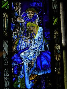 Definitely worth a trip to the Hugh Lane Gallery just to see it. Detail. Eve of St. Agnes  1924  Harry  Clarke