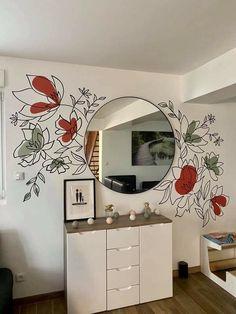 Diy Room Decor, Bedroom Decor, Motif Art Deco, Wall Painting Decor, Aesthetic Room Decor, Home Room Design, Home Decor Furniture, Room Inspiration, Decoration