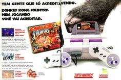 Super Nintendo (Donkey Kong Country) - 1994 - Propagandas Históricas