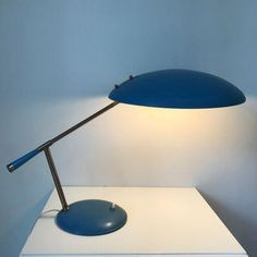 Desk Lamp by Louis Kalff for Philips, 1960s for sale at Pamono #GlassLamps