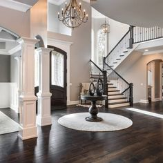 Top 80 Best Foyer Ideas - Unique Home Entryway Designs halls hallway ideas ideas small ideas entrance hallway ideas ideas paint Dream House Interior, Dream Home Design, My Dream Home, Home Interior Design, Best Home Design, Luxury Interior, Style At Home, Houses Architecture, Entry Way Design