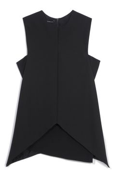 """Black Stretch Wool Twill Top by Narciso Rodriguez"""
