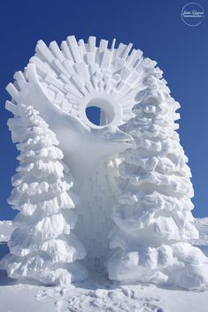 Bird Snow Sculpture