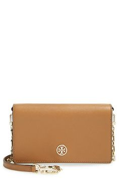 Tory Burch 'Robinson' Leather Wallet on a Chain available at #Nordstrom