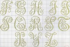 Cross-stitch Alphabets with Vines, part 2... no color chart use pattern chart as your guide..    Gallery.ru / Фото #26 - MONOGRAMS 2 - aaadelayda