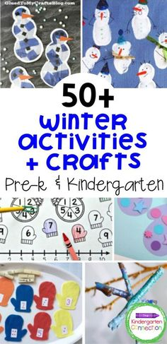 The temperatures are dropping, which means now is the best time to start gathering ideas for kids winter crafts and activities for your early childhood education classroom! We've got over 50 exciting Kindergarten winter crafts and activities for you so you'll be ready for the colder months of the year. You will find plenty of learning printables, fun games to play in the classroom, engaging crafts and more. | Winter Crafts for Kids #preschoolactivities #kindergartenactivities Winter Activities For Kids, Preschool Learning Activities, Winter Crafts For Kids, Winter Kids, Preschool Activities, Kids Crafts, Winter Theme, Childhood Education, Young Children
