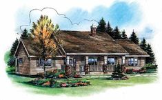 Country House Plan with 1412 Square Feet and 3 Bedrooms from Dream Home Source | House Plan Code DHSW15884 (option #2)