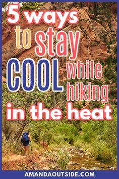 Hiking in the heat can be a challenge, but these 5 tips will help you stay cool on hot hikes! From clothing tips to hydration tips, this blog post will get you ready for all your hikes this Summer. Perfect for beginner hikers, or hikers new to the desert. Feel confident to hit the trails with these hiking hacks. #hiking Hiking Food, Backpacking Food, Hiking Tips, Camping And Hiking, Hiking Gear, Hiking Backpack, Winter Hiking, Kayak Camping, Ultralight Backpacking