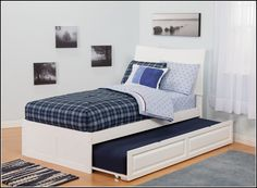 White Twin Bed Frame With TrundleHome Design Ideas - Bedding ...