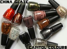 China Glaze Capitol Colours - nail polish inspired by the districts in The Hunger Games - will be released in mid-March 2012!