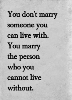 If only I was marrying Romeo. I don't feel I could live without him!