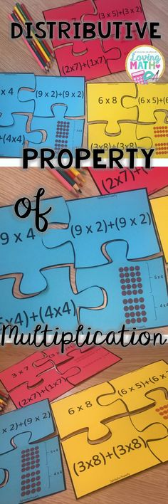 Practice the Distributive Property of Multiplication with these fun Puzzles. Great for Math Centers!