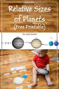 Free printable astronomy activity showing how small planet Earth is relative to the gas giants in our solar system - ResearchParent.com