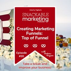 Top of Funnel: In this episode Andrew Farquer discusses how to build the top of your marketing funnel and optimize it to create more leads for your business Marketing Tactics, Digital Marketing Strategy, Inbound Marketing, Content Marketing, Marketing Strategies, Email Marketing, Design Social, Online Marketing Services, Web Design Tips