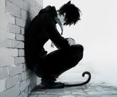 anime boy neko blackandwhite                                                                                                                                                                                 More