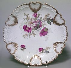 French Victorian accessories plates porcelain