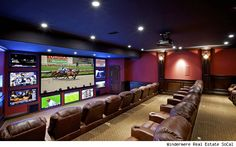 Imagine watching Sunday football in this man cave.