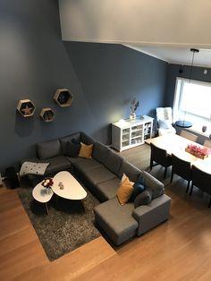 Jotun Kveldshimmel Couch, Living Room, Rum, Interior, Basement, Furniture, Home Decor, Ideas, Sofa