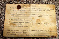 Grandmas Old Fashioned Apricot Nut Bread Recipe Card 1jpg