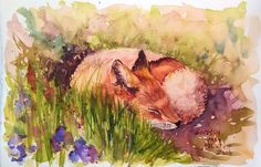 Hi friends! I had so much fun painting this sweet sleepy baby fox. You can paint this too, I will even show you how to draw it! Feel free to pause the video if you want as you paint along, take as …