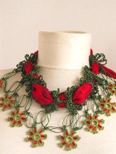 Christmas gift Turkish YEMENI crochet necklace by asuhan on Etsy, $25.00