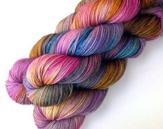 Silk Merino Sock Yarn Handdyed Dockside 400 yards by JulieSpins