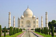 Taj mahal with minarets agra, uttar pradesh, india, asia — tourist attraction, travel destination - stock photo Le Taj Mahal, Bali, Exotic Places, Islamic Architecture, Beautiful Buildings, Incredible India, Amazing Destinations, Wonders Of The World, Trip Advisor