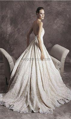 Tomasina Ivory Lace 1210 Formal Wedding Dress Size 4 (S) off retail Formal Dresses For Weddings, Wedding Dress Sizes, Gorgeous Wedding Dress, Dream Wedding Dresses, Wedding Gowns, Wedding Bells, Lace Wedding, Wedding Suite, Fantasy Wedding