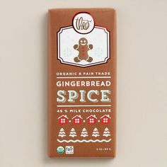 One of my favorite discoveries at WorldMarket.com: Theo Gingerbread Spice Milk Chocolate Bar, Set of 2
