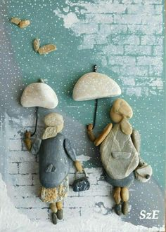 Pebbles: 25 ideas for creative art inspiration - The . flood of ideas for . - Pebbles: 25 ideas for creative art inspiration – The … flood of ideas for do-it-yourself constr - Stone Crafts, Rock Crafts, Arts And Crafts, Art Crafts, Button Art, Button Crafts, Caillou Roche, Picture Frame Ornaments, Art Pierre
