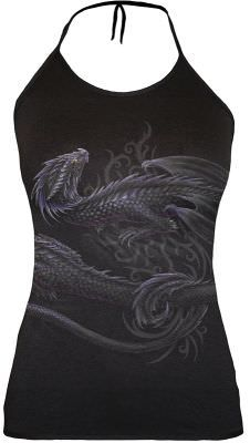 Spiral Direct - Serpent Wrap - Tie up Halter Wrap Vest Top Black