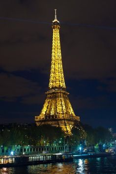 """""""The amazingly beautiful Eiffel Tower - at night! Paris was brilliant."""" -Emily Allison, IN"""