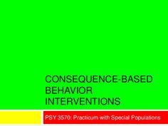 Consequence Interventions  - repinned by @PediaStaff – Please Visit  ht.ly/63sNt for all our ped therapy, school & special ed pins