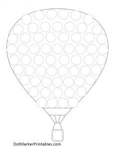 Dot Marker Printables: Hot Air Balloon