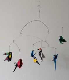 Móvil de aves