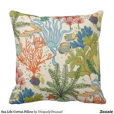 Sea Life Cotton Pillow