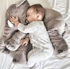 "Big Soft Baby Elephant - ""Loved it! Gave it to my daughter at her baby shower."" - Glenda - Customer - List of the most beautiful baby products The Babys, Elephant Pillow, Elephant Love, Photo Bb, Foto Baby, Cute Baby Pictures, Family Pictures, Baby Pillows, Baby Boy Outfits"