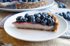 No-Bake Blueberry Custard Pie (custard filling made with just almond milk, cornstarch, sugar, a little bit of coconut oil, and vanilla)